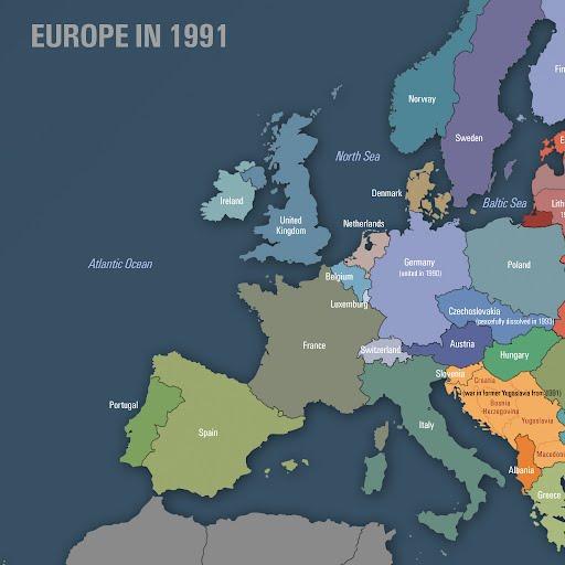 Map Of Europe In 1991 Jacek Kotela Google Arts Culture