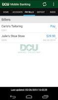 Screenshot of DCU Mobile Banking