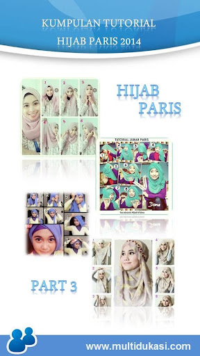 Tutorial Hijab Paris 3