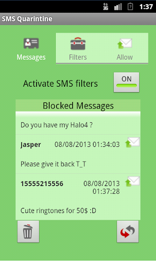 SMS Quarantine Not 4 Kitkat