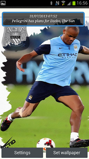 Manchester City Live Wallpaper