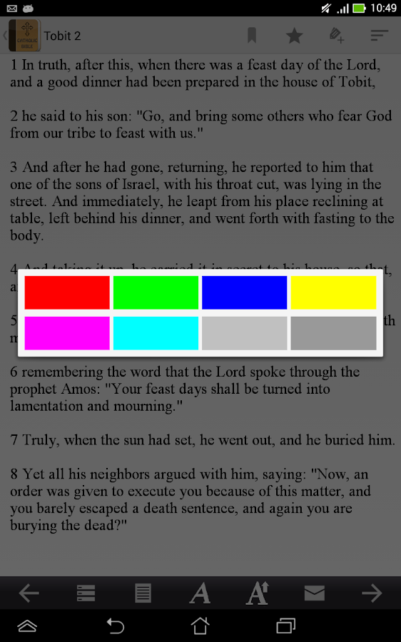 Catholic Bible- screenshot