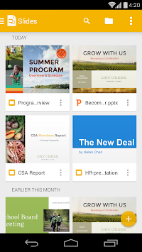 Google Slides APK screenshot thumbnail 1
