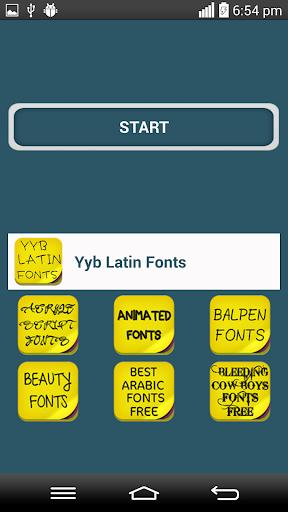 Yyblatin Fonts