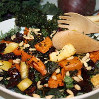Roasted Kale & Sweet Potato Salad.