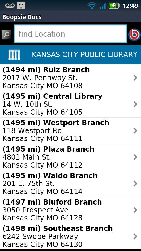 Kansas City Public Library - screenshot
