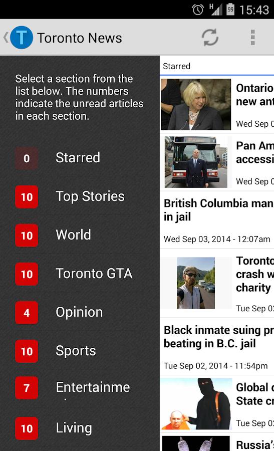 Toronto News Offline Reader - screenshot