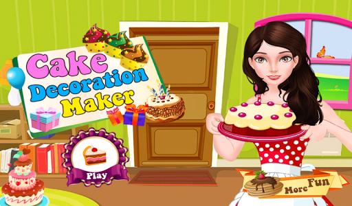 ケーキを調理し 飾る