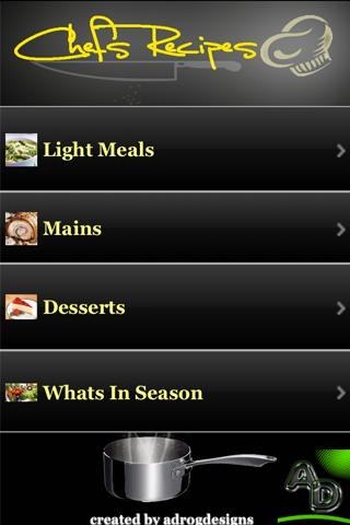 chefsrecipes - screenshot