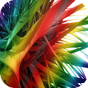 Colored Feather Live Wallpaper icon