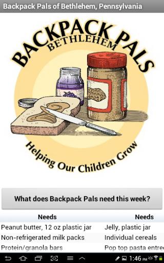 Backpack Pals Bethlehem