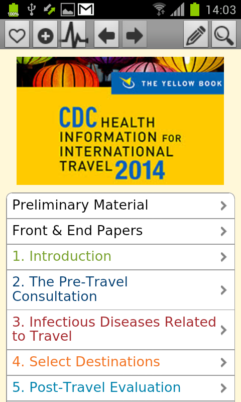 CDC 2014 - The Yellow Book- screenshot