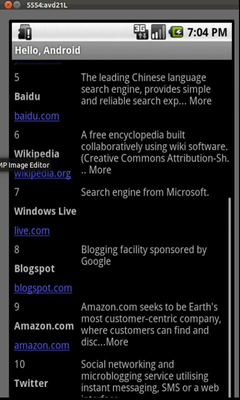 Top Sites- screenshot