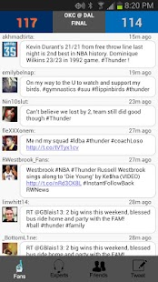 FanChatterMobile Scores&Tweets - screenshot thumbnail