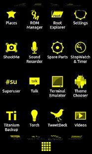 Minimalist_Yellow - ADW Theme- screenshot thumbnail