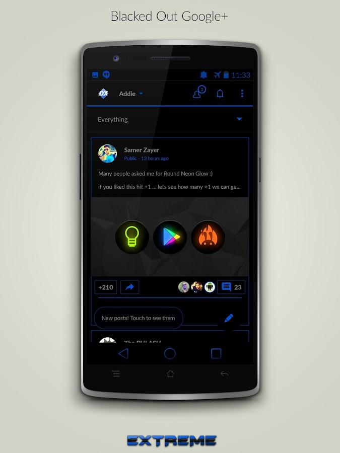 JB Extreme Theme Blue CM11 - screenshot