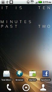 Text Clock Pro Live Wallpaper - screenshot thumbnail