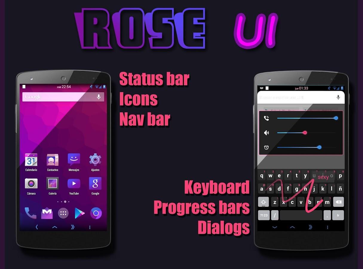Google theme rose - Rose Ui Cm11 Theme Screenshot