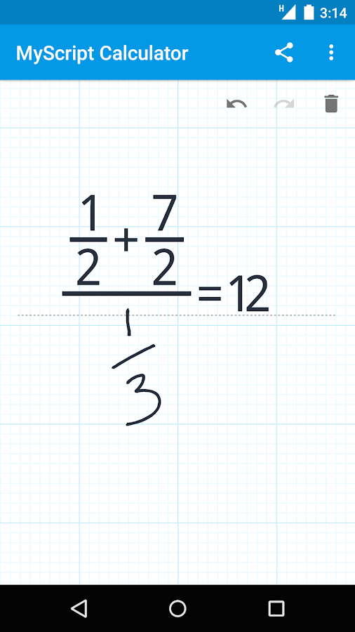 MyScript Calculator– skärmdump