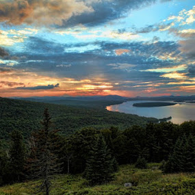 Rangely Lake from Height of the Land by Dave Eisenbeil - Landscapes Sunsets & Sunrises