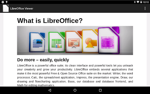LibreOffice Viewer Beta Capture d'écran