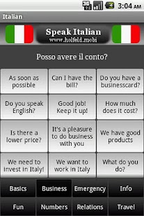 Speak Italian Free- screenshot thumbnail