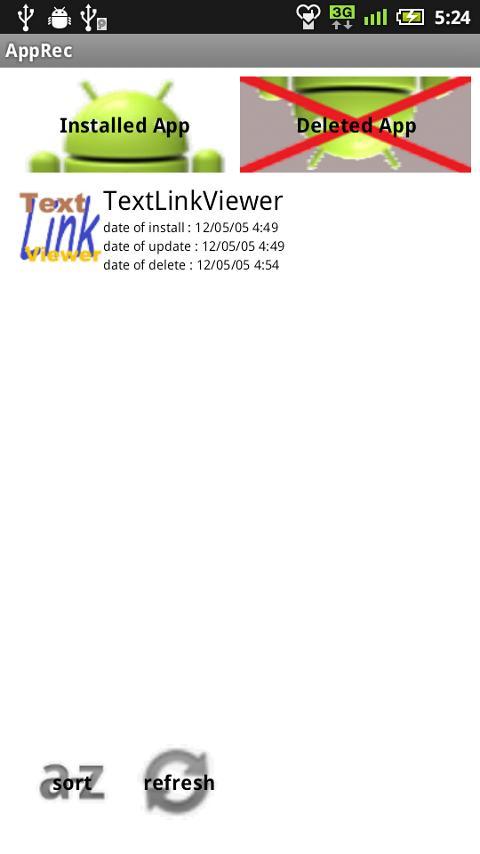 AppRec- screenshot