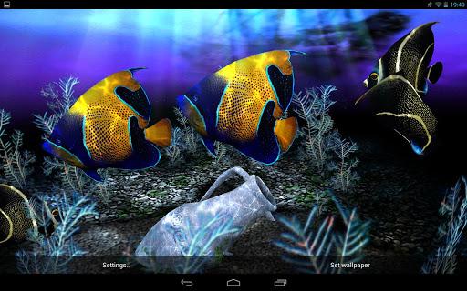 برنامج My 3D Fish II v2.1 خلفيات متحركة لاحواض السمك