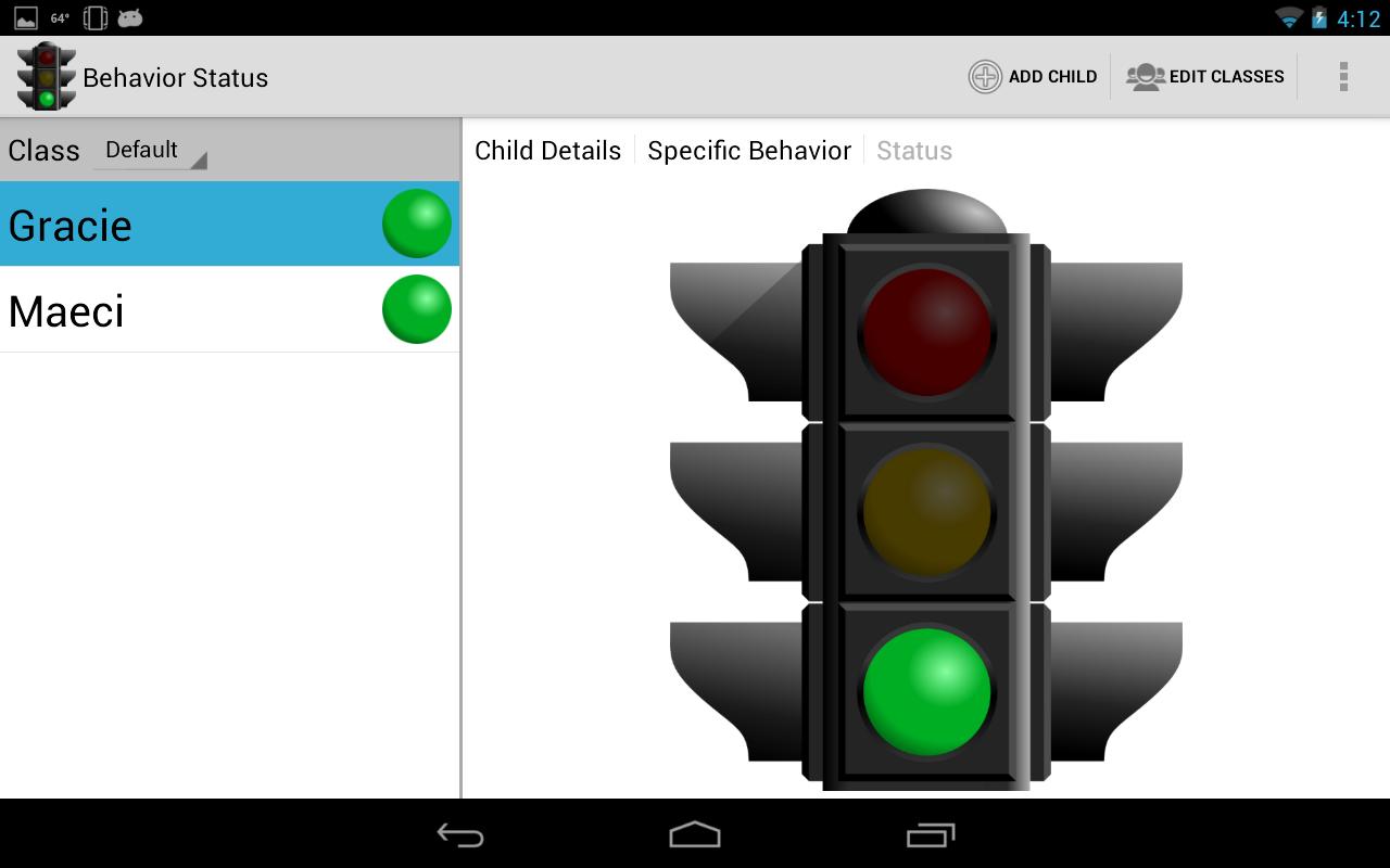 Behavior Status - screenshot