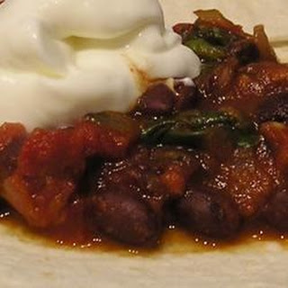 Tomato Spinach and Bean Burrito