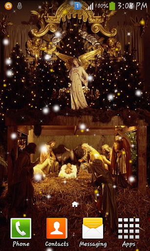Christmas crib wallpaper