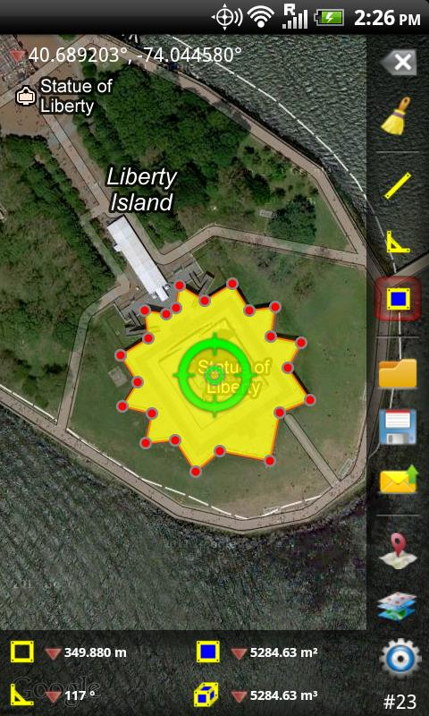 GPS Area Measure- screenshot