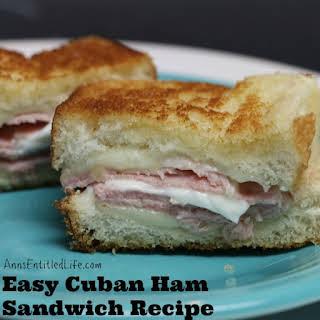 Cuban Ham Sandwich.