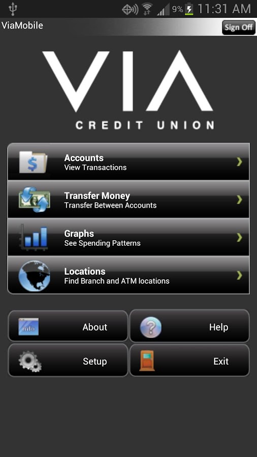 Via Credit Union - Marion - screenshot