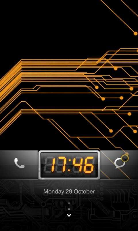 MIUI Circuit theme Go Locker - screenshot