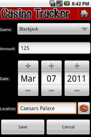 Casino Tracker - screenshot