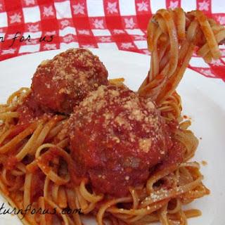 Turkey Meatballs and Spaghetti
