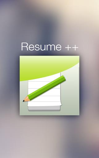 Resume ++ A Resume Developer