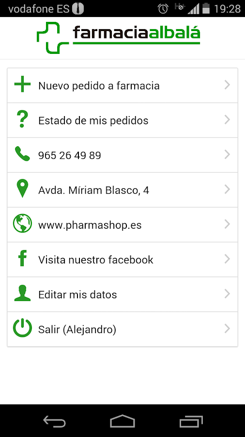 Farmacia Albalá- screenshot
