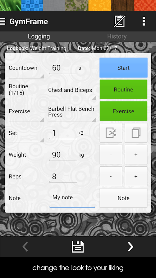 Gym Workout Log/Notebook - screenshot