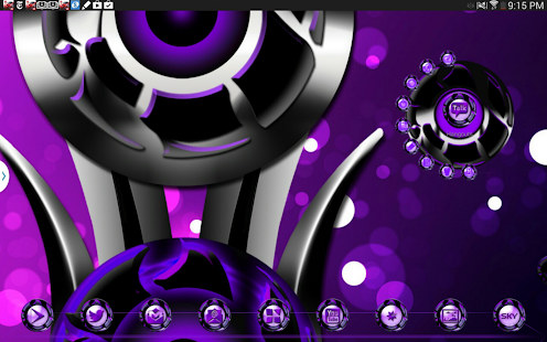 Next 3D Theme Purple Twister