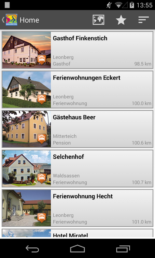 Wallenstein Radwanderweg – Screenshot