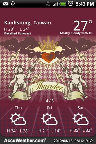 9s-Weather Theme+(Valentines) - screenshot