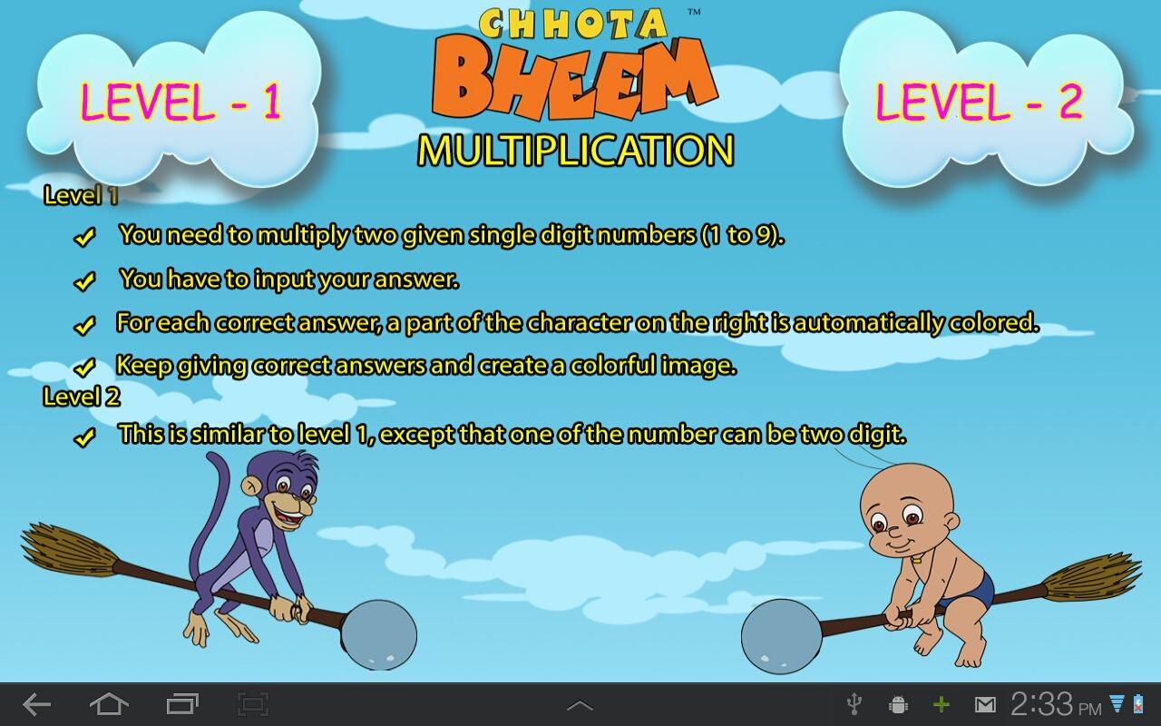 Fun Math with Chhota Bheem - screenshot