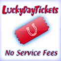 LuckyDayTix No Fees logo