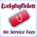 LuckyDayTix No Fees logo
