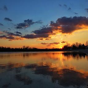Jarun sunset 6 by Andjela Miljan - Landscapes Sunsets & Sunrises (  )