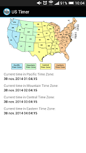 US Timezones clock - screenshot thumbnail