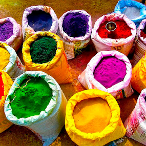 BAGS OF COLOR by Doug Hilson - Artistic Objects Business Objects ( , colorful, mood factory, vibrant, happiness, January, moods, emotions, inspiration )