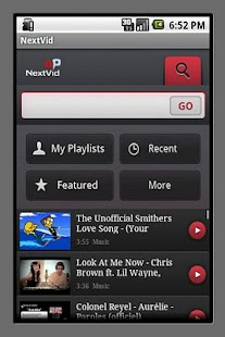 NextVid - YouTube player